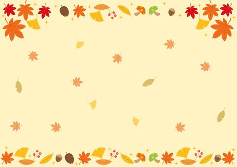 秋 紅葉 落ち葉 フレーム