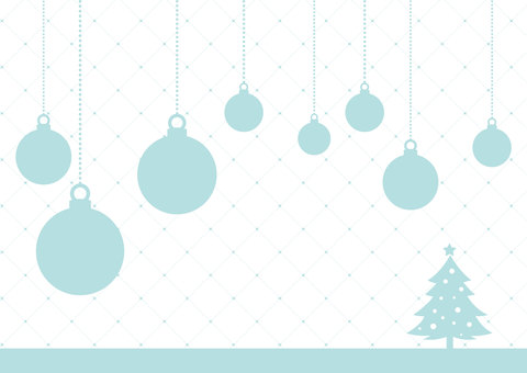 Winter background _ Christmas ornament 02