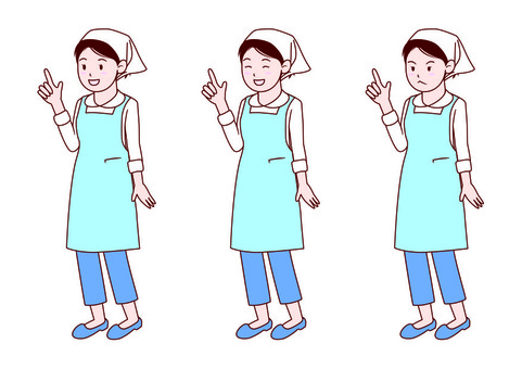 Woman in sling and apron figure - whole body