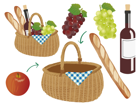One day picnic basket set