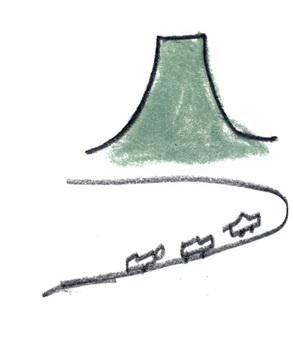 首先爬上初夏登山圖像