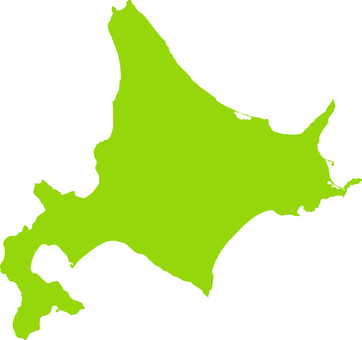 Hokkaido _ Silhouette _ yellow green