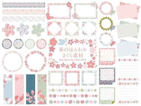 Spring Japanese cherry blossom material
