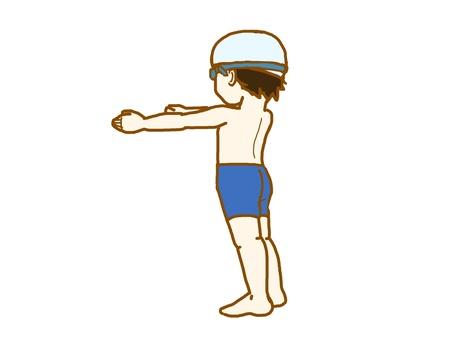 수영장 소년.