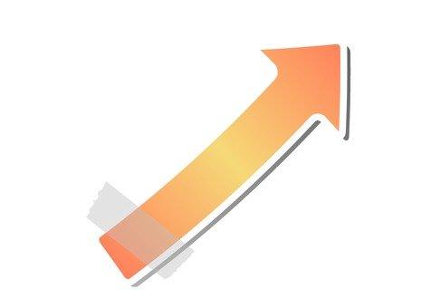 Up arrow (Orange)