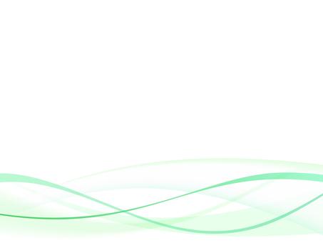 ウェーブ背景 緑