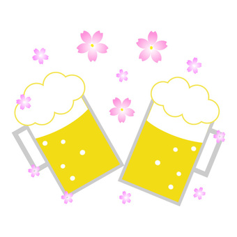 Sakura and beer