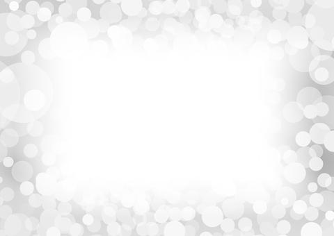 白の円形抽象背景素材フレーム