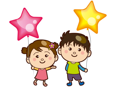 Children with star balloons