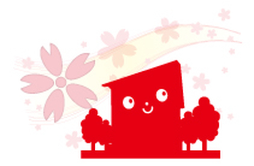 Cherry blossom dwelling place _ red
