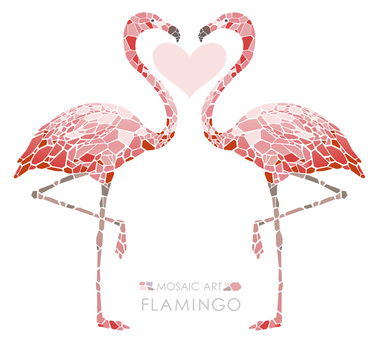 Mosaic art Flamingo