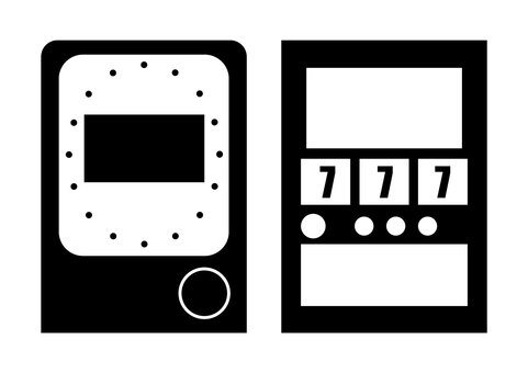 Game machine pictogram