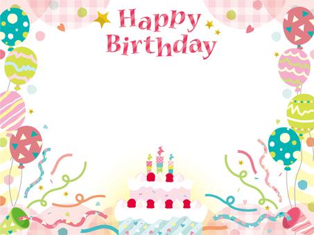 생일 카드 _ B02_ 케이크