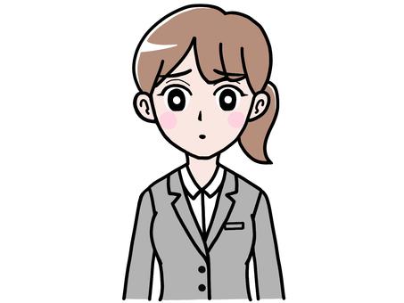 Woman in sad suit