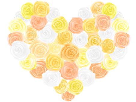 Heart 2 spreading roses 2