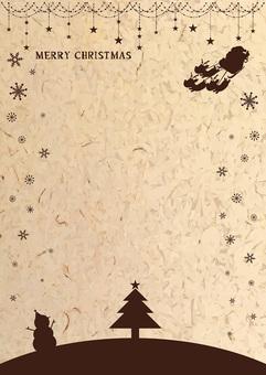 クラフト風素材のクリスマスフレーム