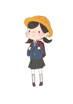 초등학생 여자 일러스트