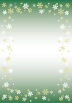 눈송이 프레임 (그린)