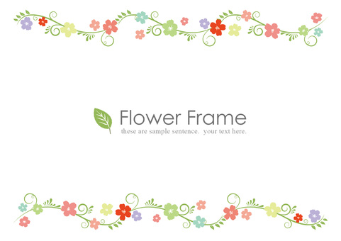 Spring flowers up and down frames