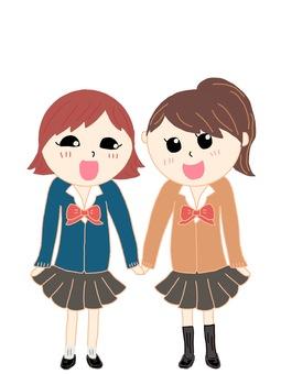 Schoolgirl pair