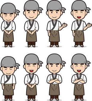 Cook (men, soba noodle craftsmen)