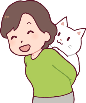 Cat to be piggybacked