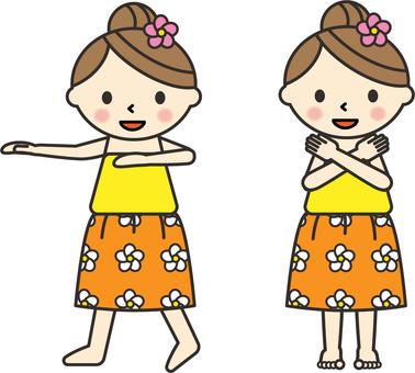 Girl dancing hula