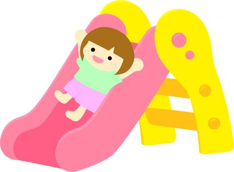 Slide _ sliding girl