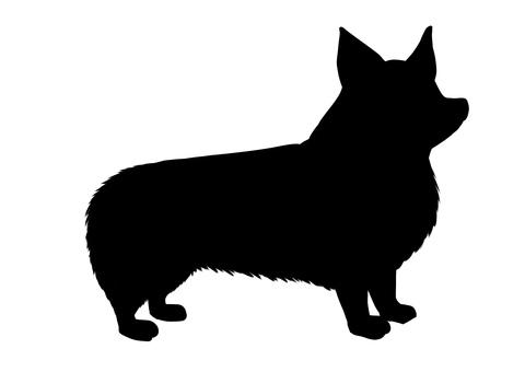 Corgi silhouette