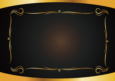 Decorative ruled frame 010_ gold