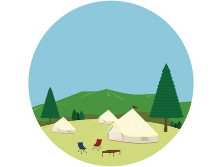 Camp landscape