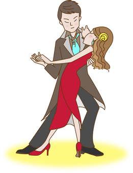 A man and a woman who is dancing ballroom