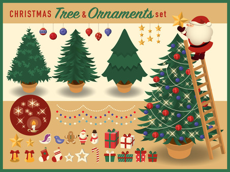 Christmas tree & ornament