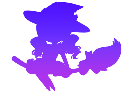 Halloween Witches Silhouette 2