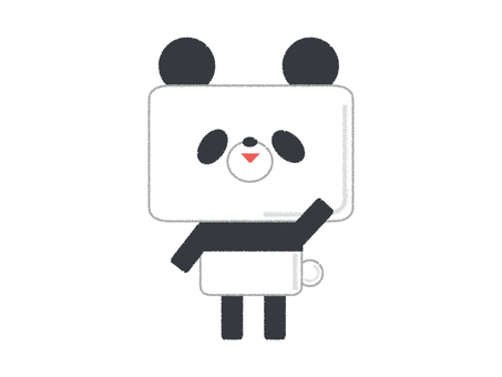 팬더 귀여운 포즈 왼쪽