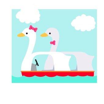 Swan boat icon (2)