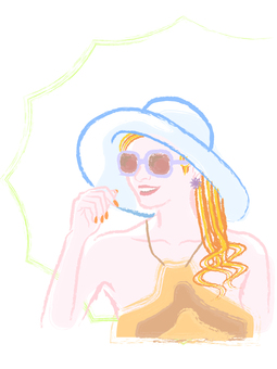 Women in the summer vacation