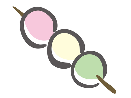 Three color dumplings (055)