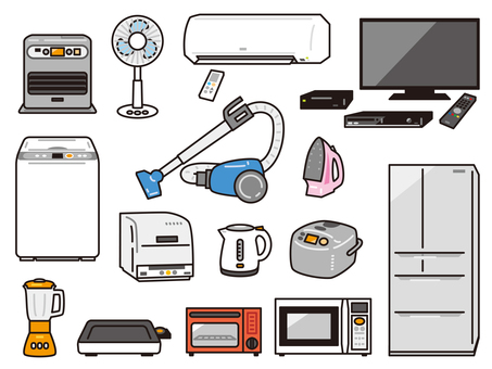 Household appliances set 01