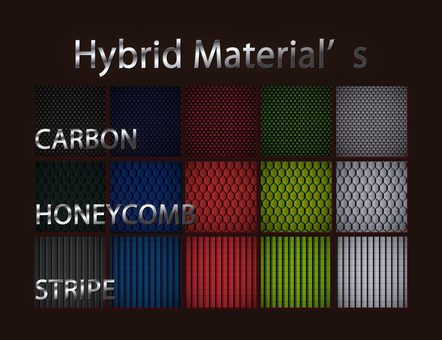 Cool hybrid material