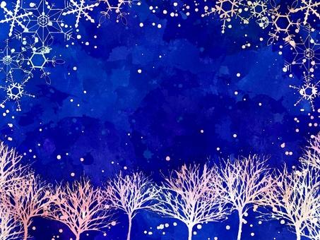 Winter Tree and Sky / Snowflake