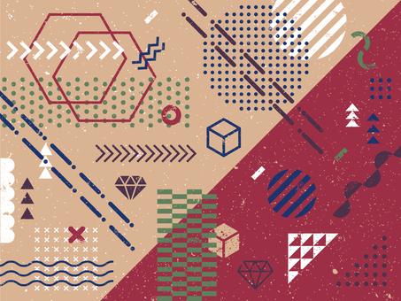 Geometric pattern assortment (blurred ver.)