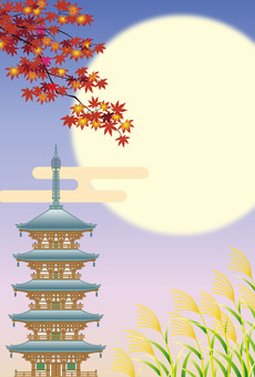 Autumn Japanese landscape