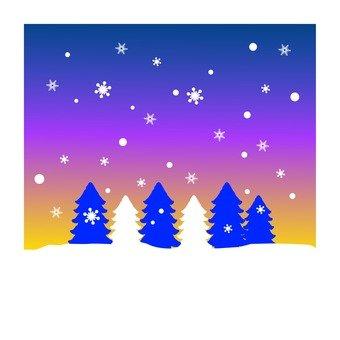 Night when it snows