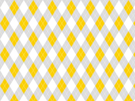 Argyle ● Gray × Yellow