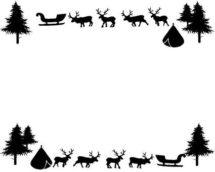 Scandinavian silhouette frame