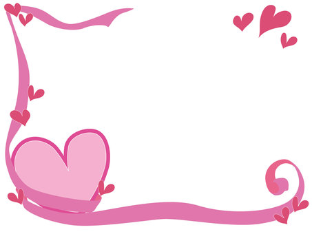 Heart frame 1 pop Pink background No