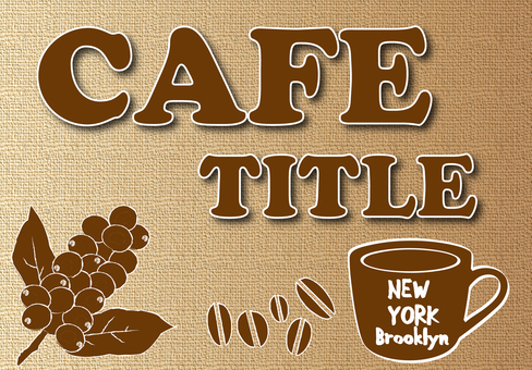Cafe sign design