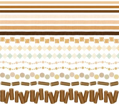 Wood grain decorative ruling set 01