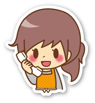 【Seal】 Female * Apron _ Telephone
